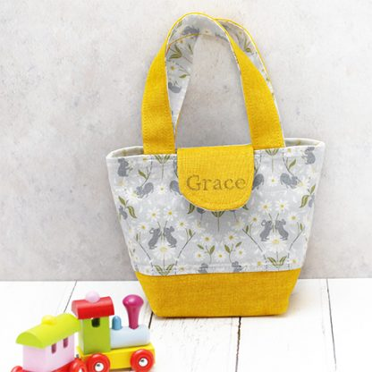 Personalised version of child's tote in yellow