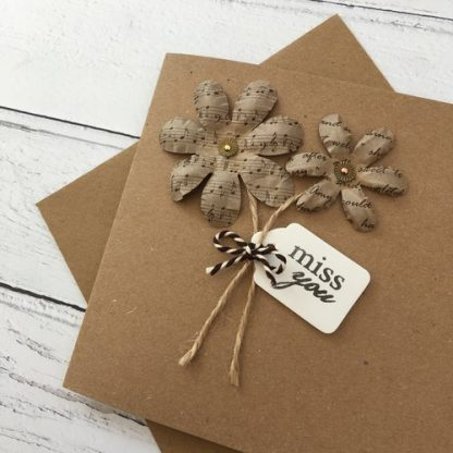 Crofts Crafts any occasion flower card close up