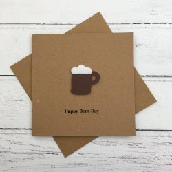 Crofts Crafts happy beer day birthday card