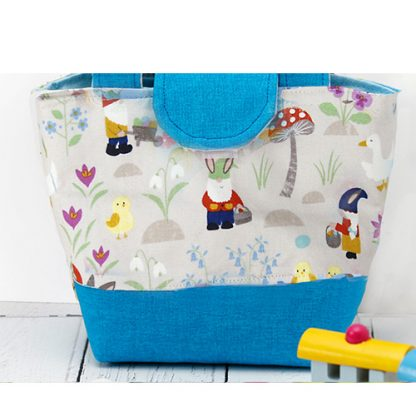 Egg hunt toy tote bag in blue