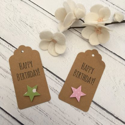 Crofts Crafts gift tags with greeting