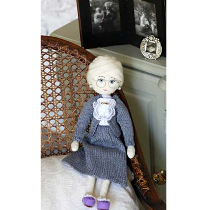 Grandmother memory doll with photos