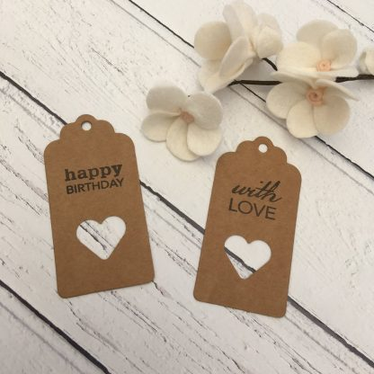 Croft Crafts gift tags - stamped design & greeting