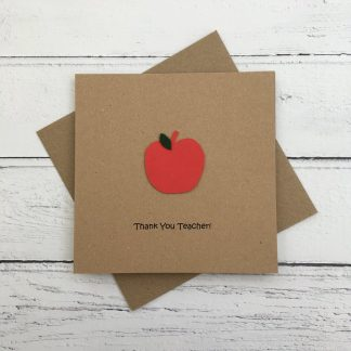 Crofts Crafts thank you teacher apple card