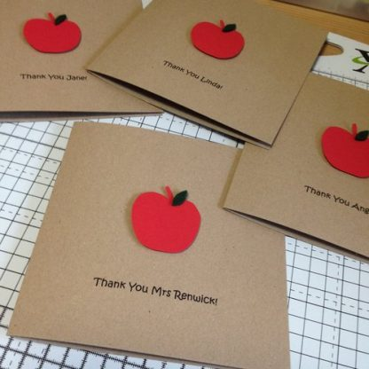 Crofts Crafts thank you teacher card with names