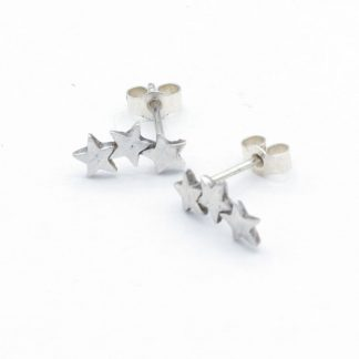 3 star stud climber earrings