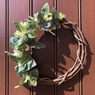 Eucalyptus front door wreath