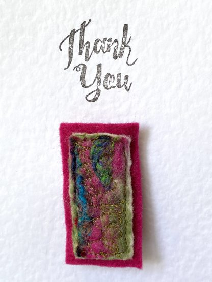 Thank you card and brooch