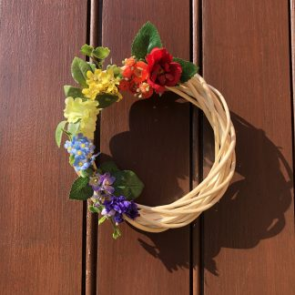 Mini rainbow wreath