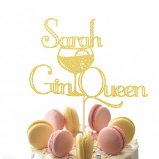 Personalised Gin Queen Cake Topper