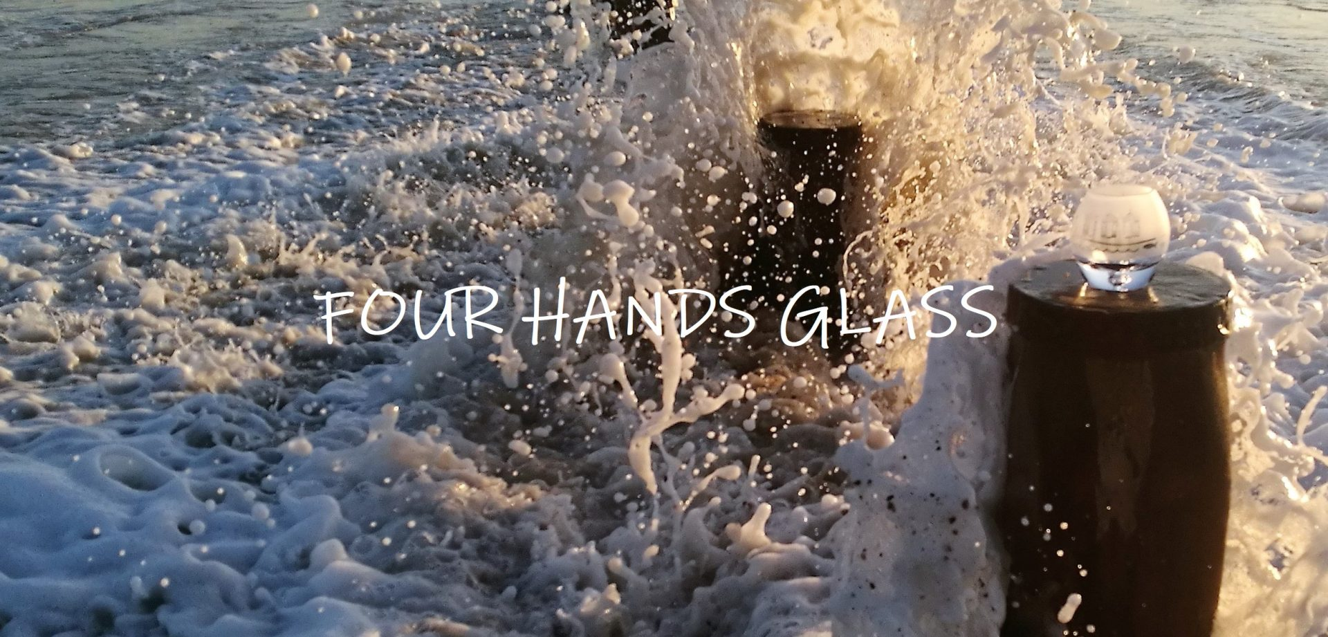 Four Hands Etched Glass