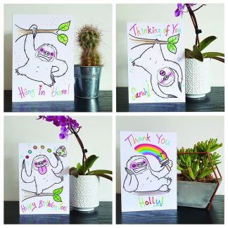 Slohtypops the Sloth Greetings Cards