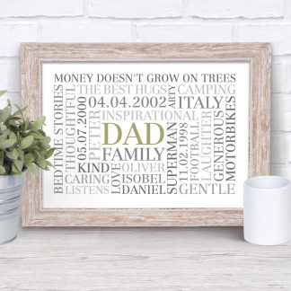 Father's Day Word Art Poster