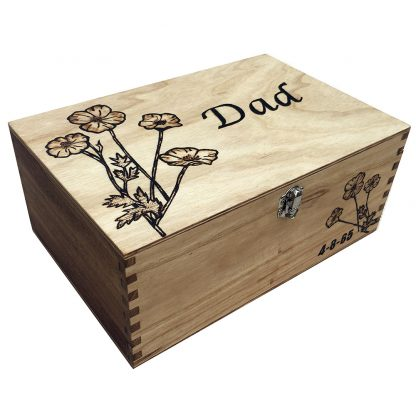 dads wooden memory box