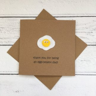 Crofts Crafts Father's Day card - thank you for being egg-cellent