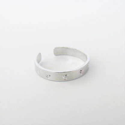 aluminium heart toe ring