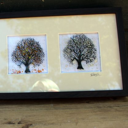 close up of framed trees