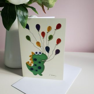 Kids birthday card - Dinosaur