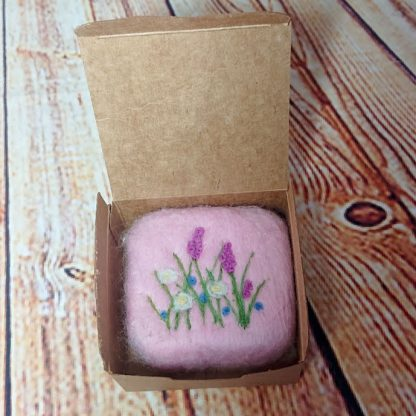 Rose Geranium felted soap