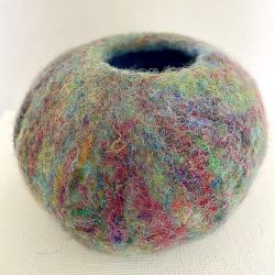 Wet Felt Bowl - The Kaleidoscope Bowl.