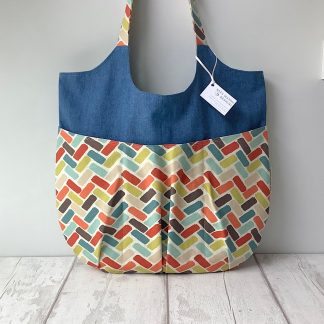 Relaxed Tote Bag - Colourful Geometric