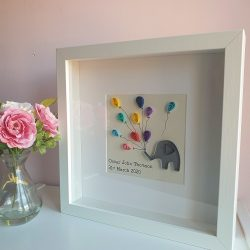 Personlised new baby gift - elephant and balloons