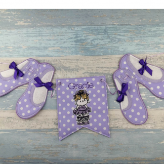 Ballerina Personalised Bunting with Ballet Shoes