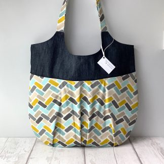 Relaxed Tote - Teal Geometric