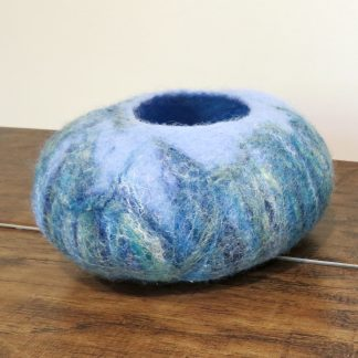 Handmade Wet felt Sea Bowl.