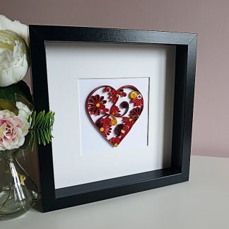 Paper quilling - large floral heart
