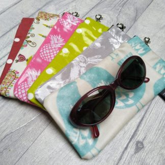 oilcloth glasses case with flex spring closure