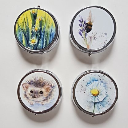Selection of Round pill boxes x 4