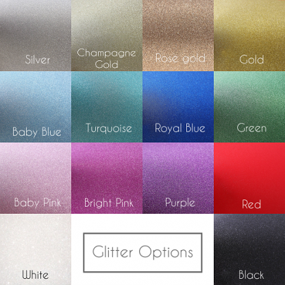 Cuckoo Lane Designs Glitter Colour Chart