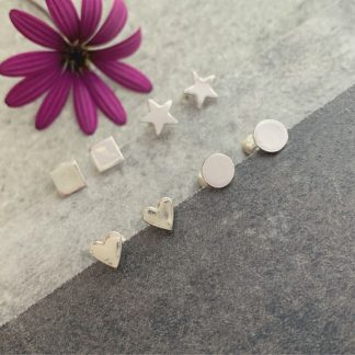 Little silver stud earrings