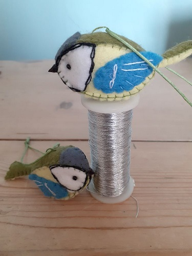 Handmade felt Great tit