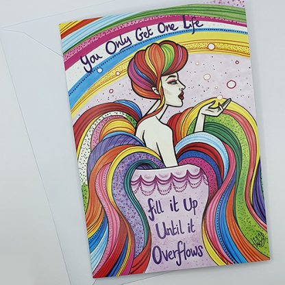 Mel Langton Art You Only Get One Life Greetings Card