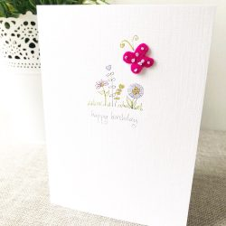 Handmade any occasion butterfly card
