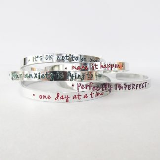 coloured motivational quotation cuff bracelets
