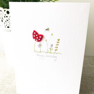 Handmade floral any occasion card