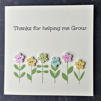 thanks for helping me grow teacher thank you cards (