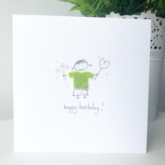 Handmade Wee Lass birthday card