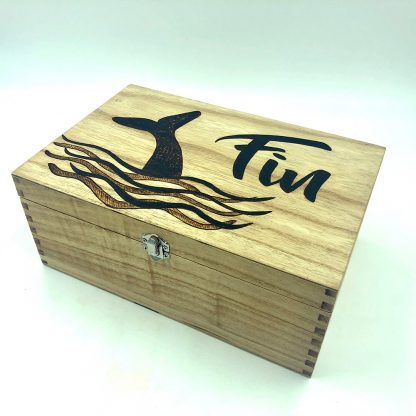 whale wooden box