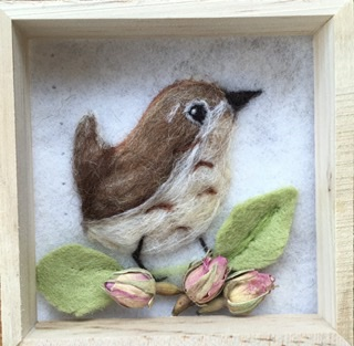 Felted wren picture