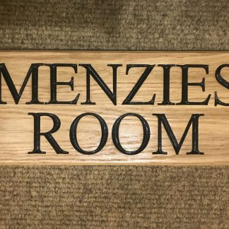 Personalised Oak House Signs.
