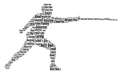 fencer word art print