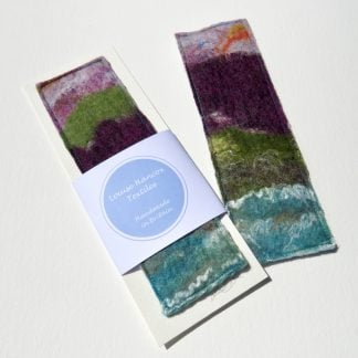 Textile Felt Bookmark At the Cliff Edge.