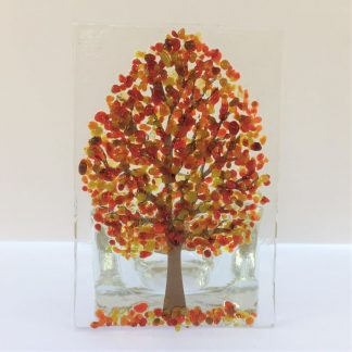 Autumn tree tealight
