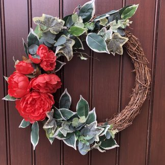 Bright summer front door wreath