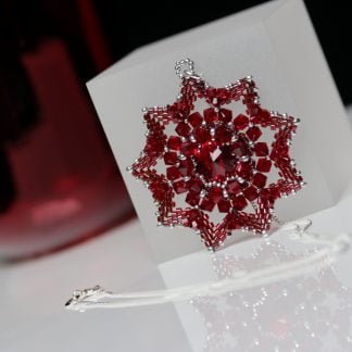 Beaded Red Star Pendant