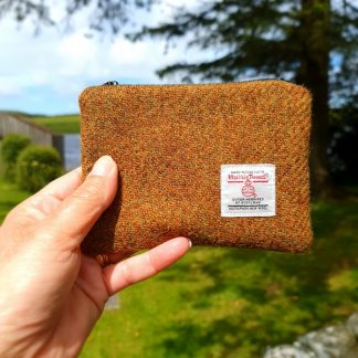Brown Harris Tweed Purse
